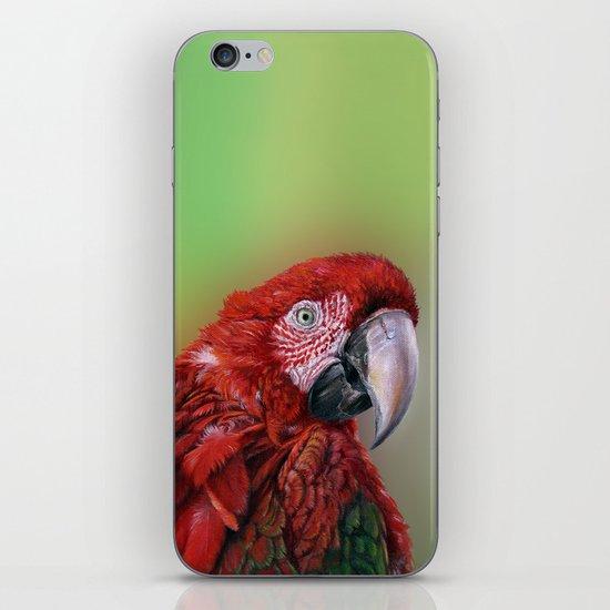 Ara  macao oil5013 iPhone & iPod Skin