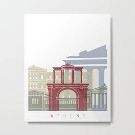 Athens skyline poster Metal Print