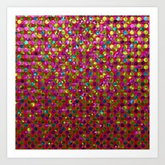 Polka Dot Sparkley Strass G266 Art Print