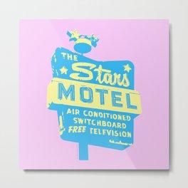 Seeing Stars ... Motel ... (Pink Background) Metal Print