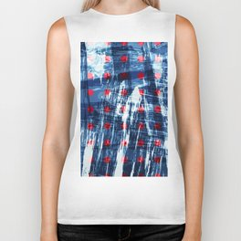 dots on blue ice Biker Tank