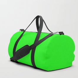From The Crayon Box – Electric Lime - Bright Green - Neon Green Solid Color Duffle Bag