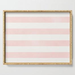 Pink Coral Stripes Serving Tray