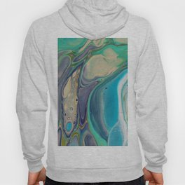 Fluid Abstract - Blue and Purple Hoody