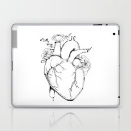 Black and White Anatomical Heart Laptop & iPad Skin