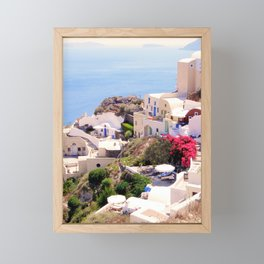 Santorini Charm Framed Mini Art Print