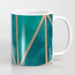 Copper & Emerald Geo Coffee Mug