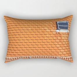 Tiled Roof After Summer Rain Rectangular Pillow