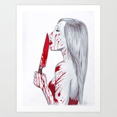 A Taste of Red Art Print