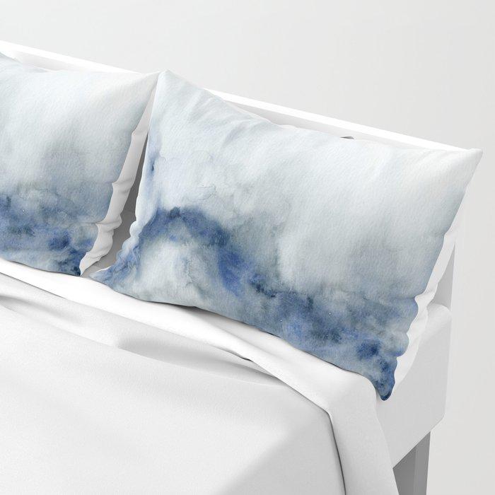 Indigo Abstract Painting   No.3 Pillow Sham