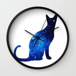 Blue univerCAT Wall Clock