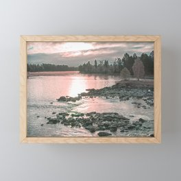 River in the morning light II Framed Mini Art Print