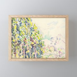 """Paul Signac """"Saint-Paul-de-Vence"""" Framed Mini Art Print"""