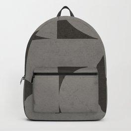 Scandinavian Contemporary Geometry - Square and Half Circles - Dark Grey Backpack