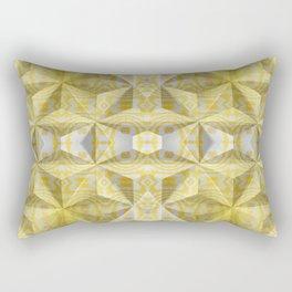 Geometric 3D Diamond Yellow Gold Print Rectangular Pillow