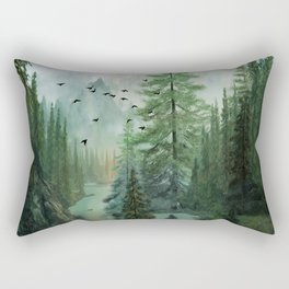 Mountain Morning 2 Rectangular Pillow