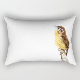 """Sweet Melody"" Carolina Wren by Teresa Thompson Rectangular Pillow"
