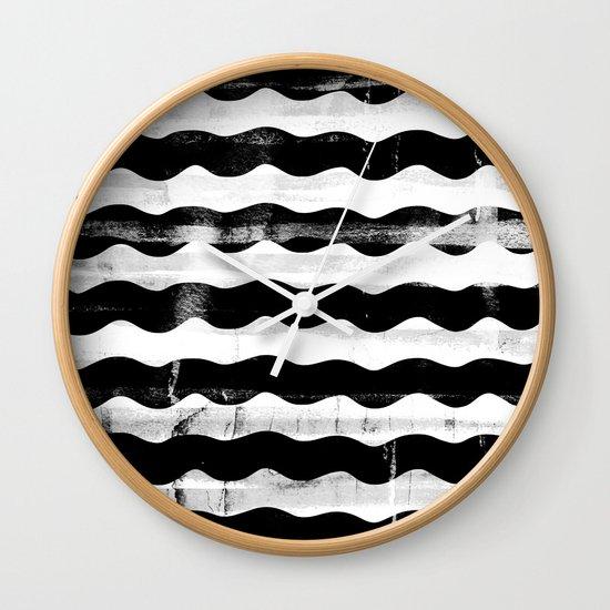 Black Waves Wall Clock