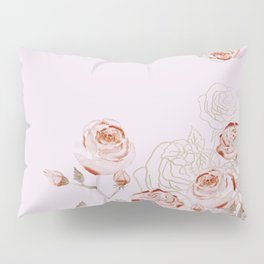 FRENCH PALE ROSES Pillow Sham