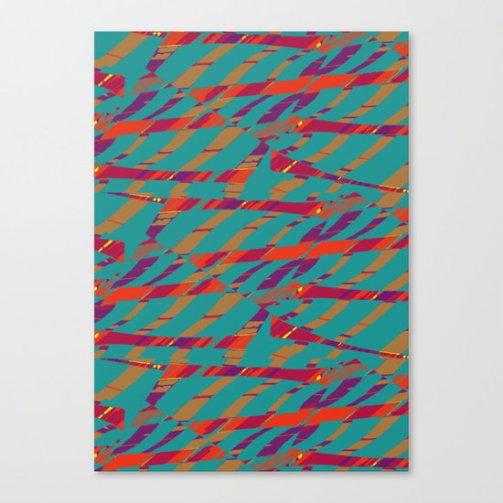 TORN STRIPES Canvas Print