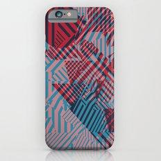 Dazzle Camo #02 - Blue & Red iPhone 6s Slim Case