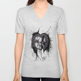 The Horror of Chucky Unisex V-Neck