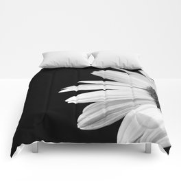 Half Daisy in Black and White Comforters