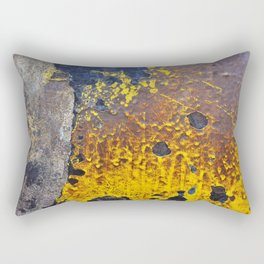 Abstractions in Brown, Yellow and Black Rectangular Pillow