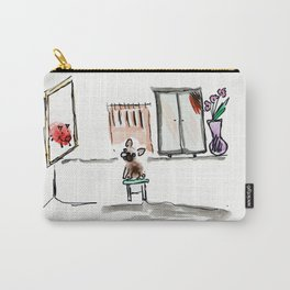 """Mirror mirror on the wall"", art by BoubouleArt Carry-All Pouch"