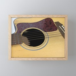 My Guitar Framed Mini Art Print