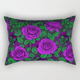 Purple roses Rectangular Pillow