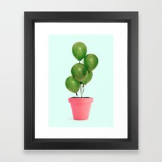 CACTUS BALLOON Framed Art Print