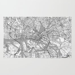 Hamburg Map Line Rug