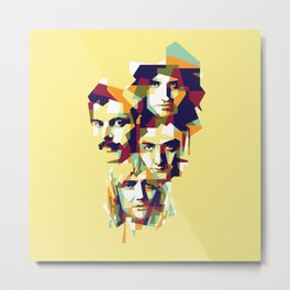 colorful illustration of queen band Metal Print