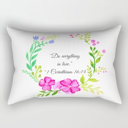 Do Everything in Love 1 Corinthians 16:14 Rectangular Pillow