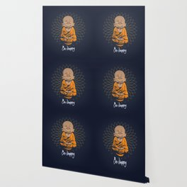 Be Happy Little Buddha Wallpaper