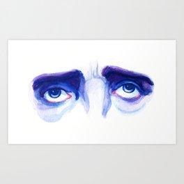 Eyes of Poe Art Print