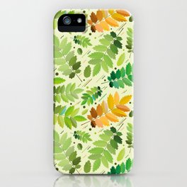 abstract, acorn, background, branch, color, cover, crocket, foiling, foliage, green, greens, impress iPhone Case