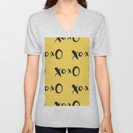 Kisses XOXO Lemon Zest Unisex V-Neck