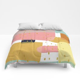Conglomeration in Pastel Comforters
