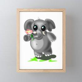Cute Little Elephant Framed Mini Art Print