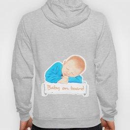 Baby on board - Blue EN Hoody
