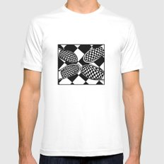 Checkmate MEDIUM White Mens Fitted Tee