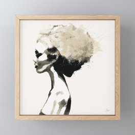 Serene - Digital fashion illustration / painting Framed Mini Art Print