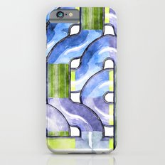 Pipelines watercolor iPhone 6s Slim Case