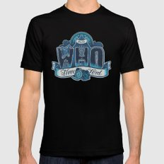 Infinite Who Black LARGE Mens Fitted Tee