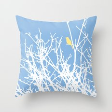 Bird on a Branch IV Throw Pillow