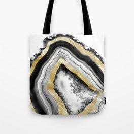 Agate Gold Foil Glam #1 #gem #decor #art #society6 Tote Bag