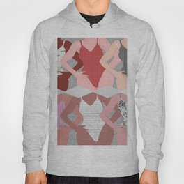 My Thighs Rub Together & I'm OK With That - Positive Body Image Digital Illustration Hoody