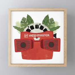 Retro Viewmaster Botanical Print Framed Mini Art Print